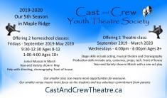 Registration for our 5th Season 2019-2020 Maple Ridge Theatre Classes & Lessons _small