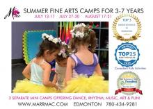 SUMMER FINE ARTS CLASSES FOR 3-7 YEAR OLDS Edmonton City Ballet Dancing Classes & Lessons _small