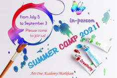 In-person Summer Camp 2021 at Art One Academy Markham! Markham Art Schools _small