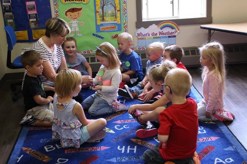 Group activity during circle time.