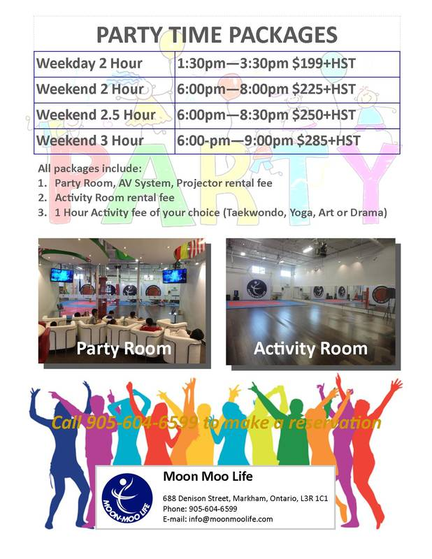 Party Time Packages