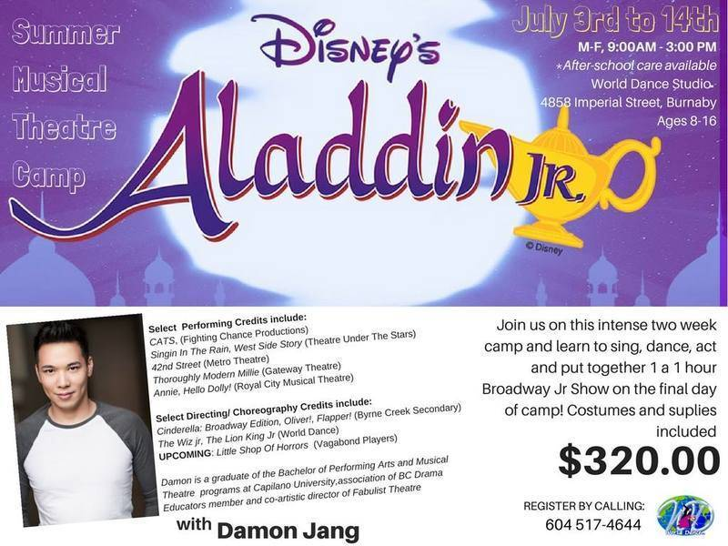 Musical Theatre Summer Camp with Damon Jang