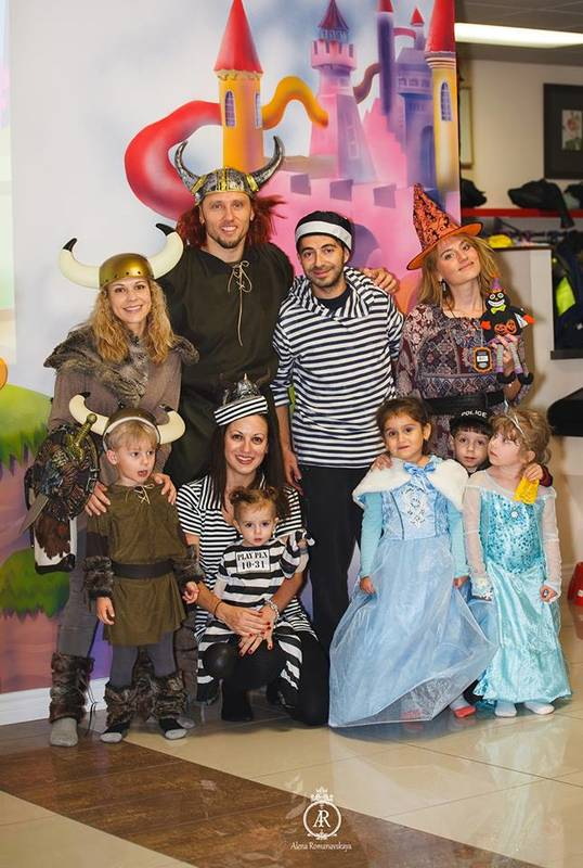 All dressed up family for Halloween party!