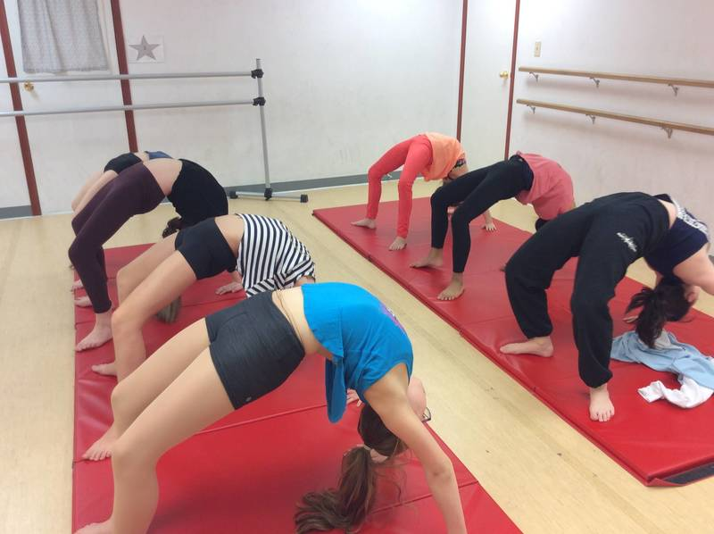 Dancers take Acro at Maples Academy of Dance Winnipeg