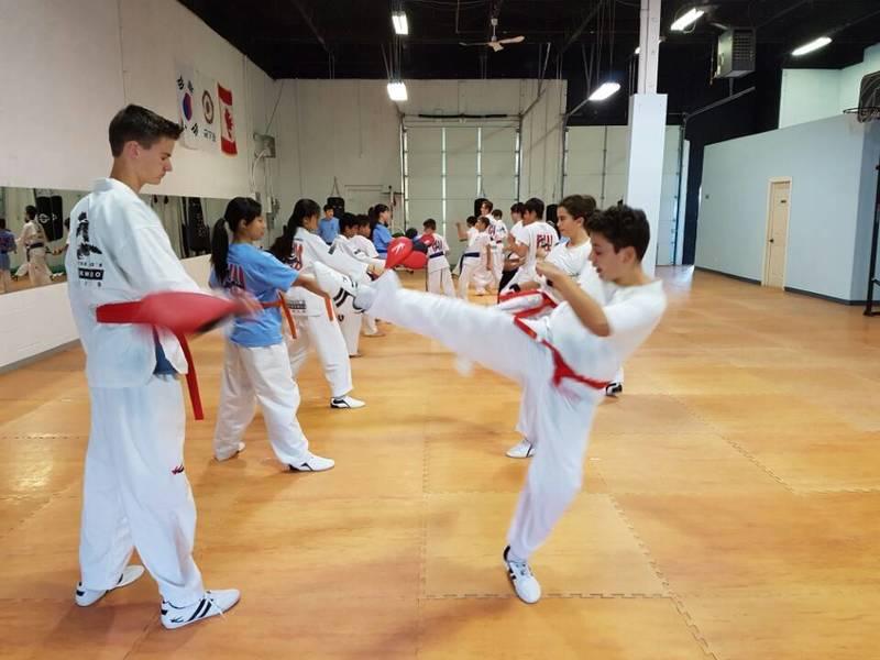 Seong's Taekwondo World Oakville Target Kicking