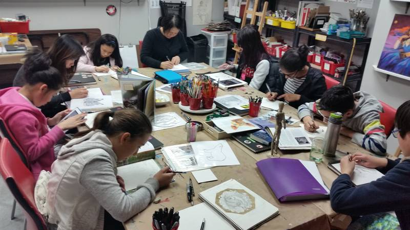 Independent work during one of our Intensive Drawing Classes