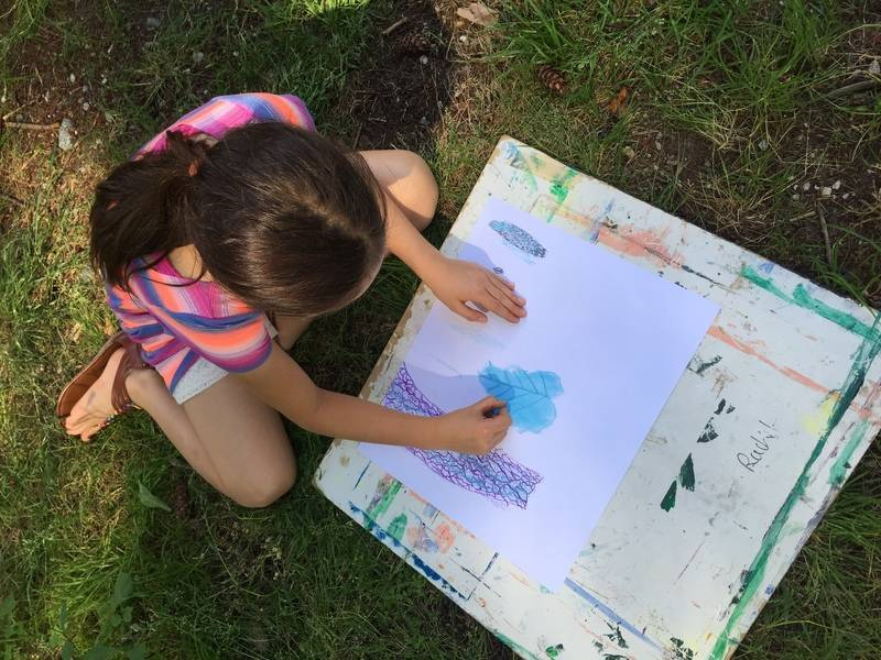 Plein Air for kids at Maplewood House