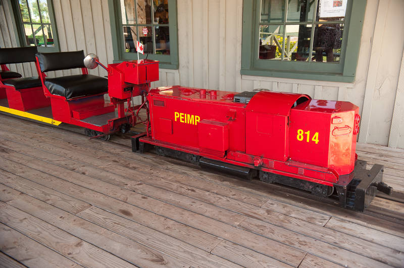 The miniature train ride at Elmira Railway Museum