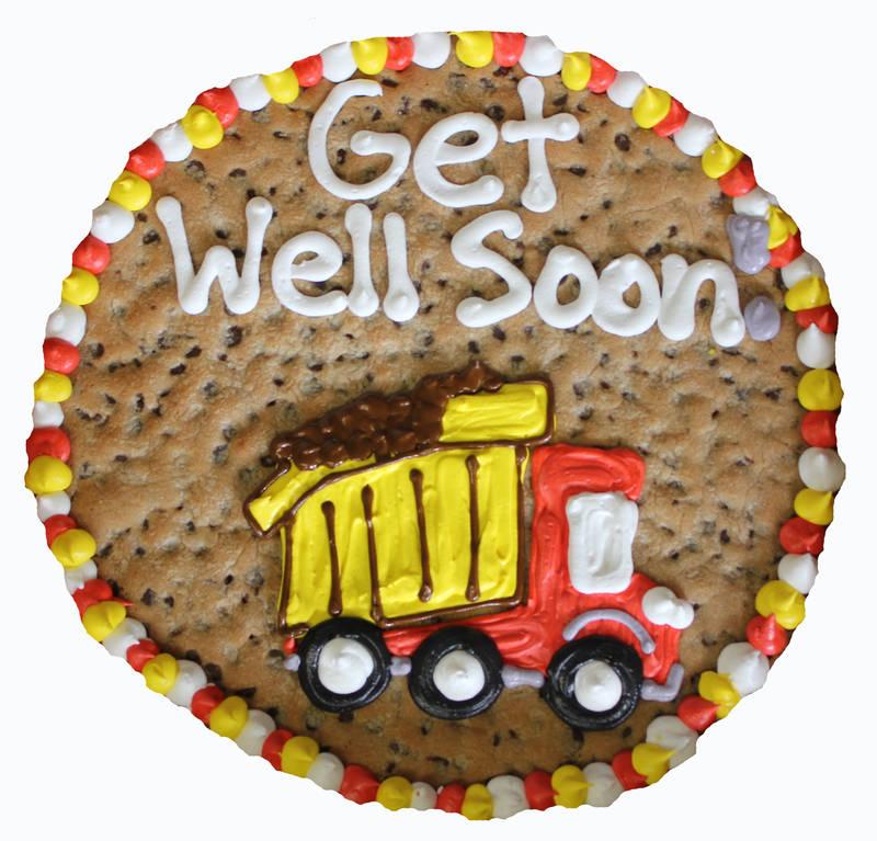 Cookiegrams Custom Art Cookie - Get well soon!