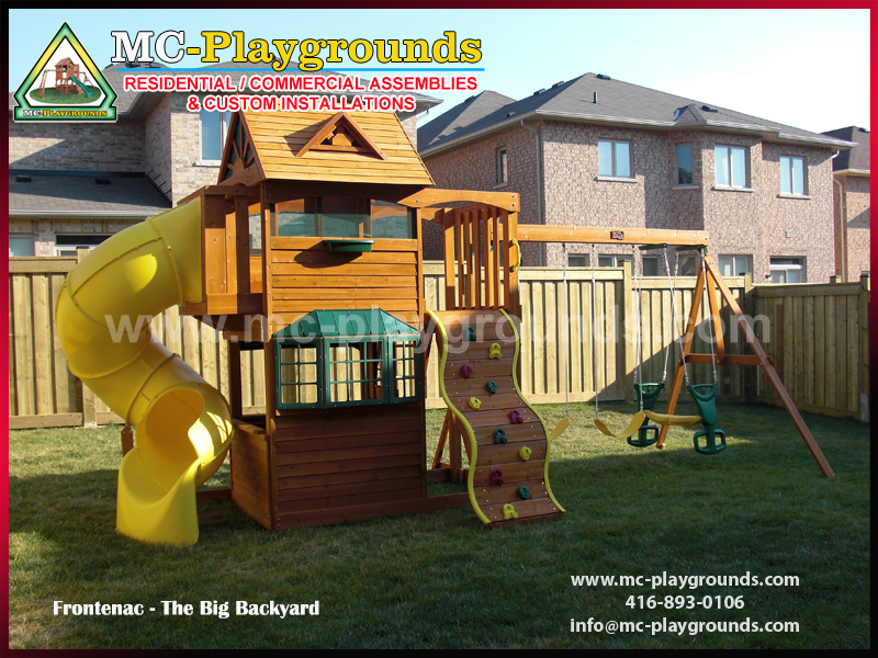 "MC-Playgrounds - ""Frontenac Play Set"" installation"
