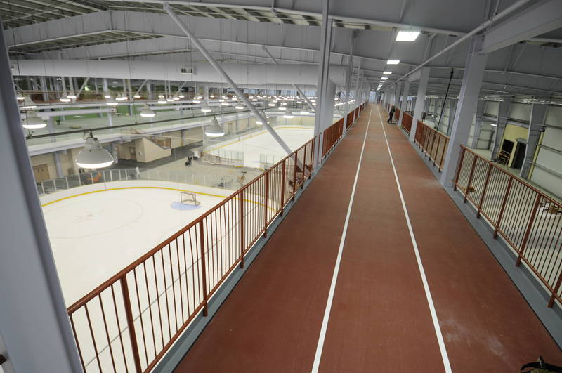 The Northern Vac Walking Track is a 340 metre, heated surface on the third floor.