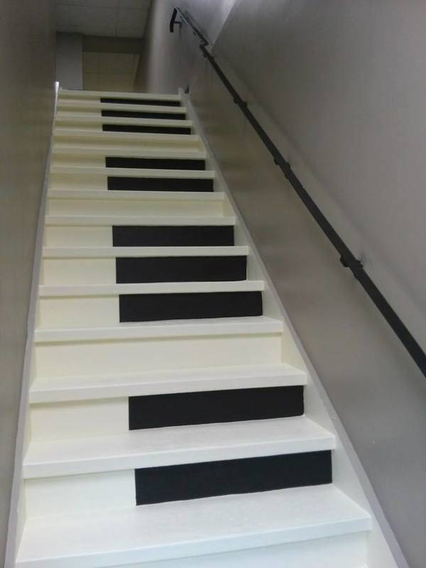 Stairs to musical learning.