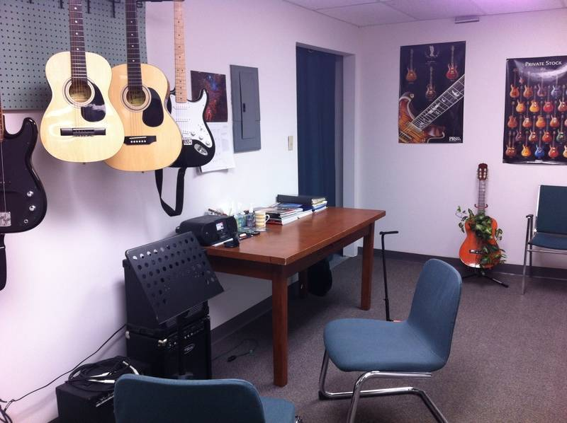 One of our many guitar rooms.
